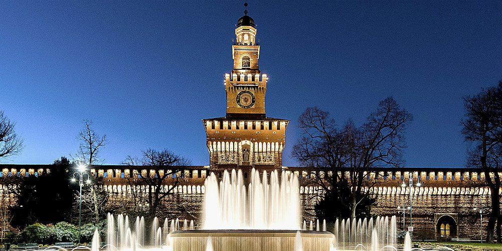 piazza castello notte - notturni