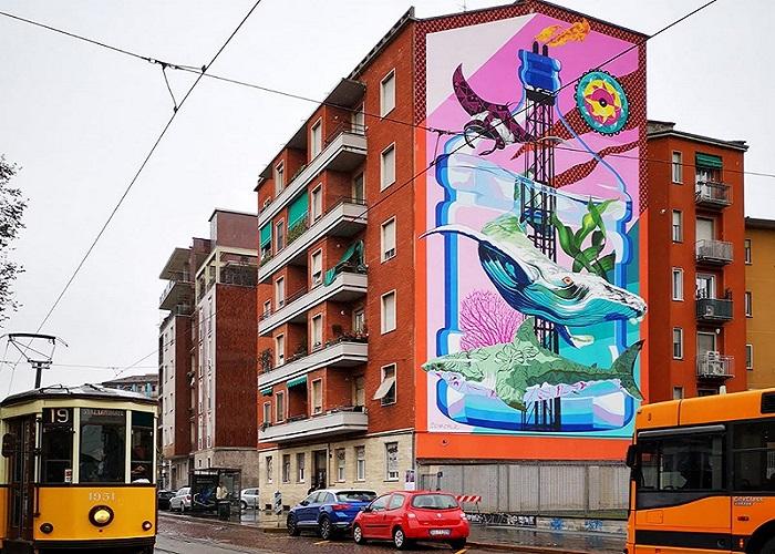 Anthropoceano murales milano